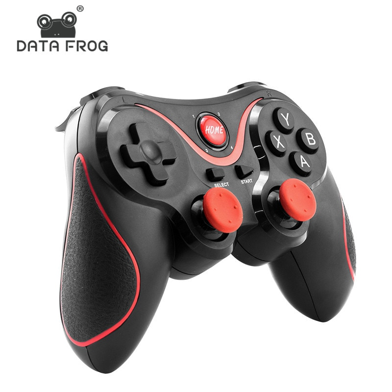 data frog 2 4g wireless game controller gamepad for ps3 xbox 360 android mini i8 keyboard optical mouse for android tv box pc DATA FROG Wireless Android Gamepad Game Controller For PC For PS3 Bluetooth Gaming Joystick For Android Phone  For iphone Phone