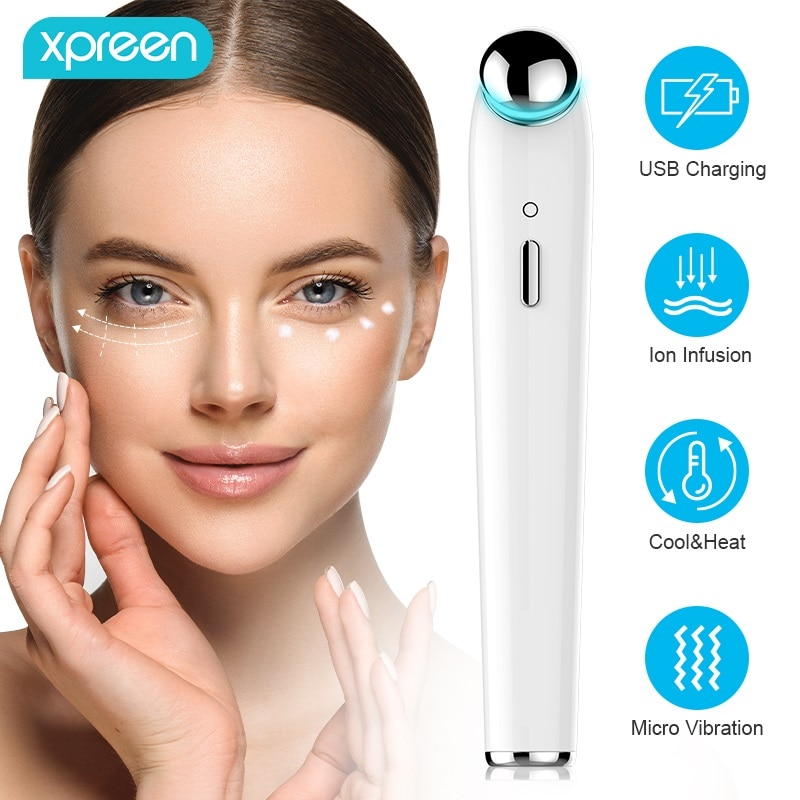 Electric Eye Massager Anti Aging Wrinkle Eye Patch Relief Dark Circle Puffiness Removal Micro-current Massage Eye Care Device недорого