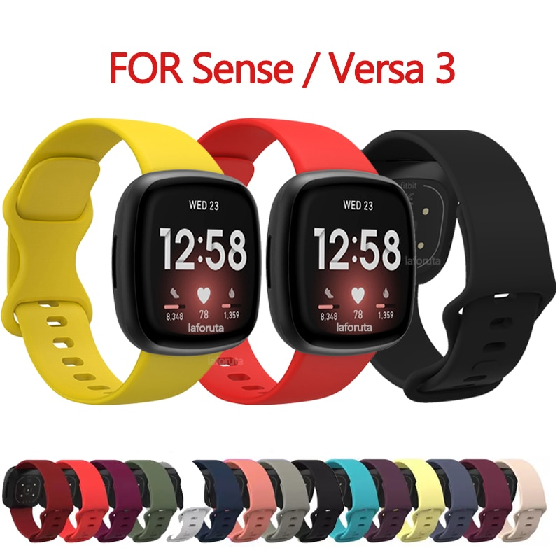 floral printed strap for fitbit versa band silicone flower bracelet fitbit versa replacement bands bracelet wristband watchbands For Fitbit Versa 3 Strap Fitbit Sense Watch Band Correa Silicone Waterproof Wristband Bracelet Bands for Fitbit   Accessories