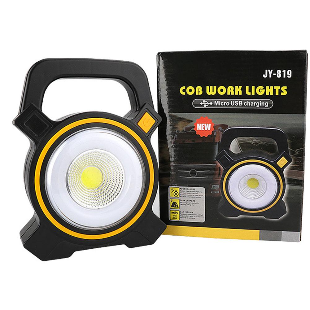 Linterna Solar LED COB para acampada, lámpara nocturna portátil recargable para emergencia,...