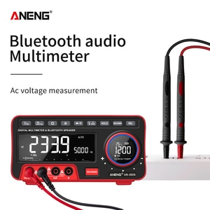AN888S Digital Multimeter 19999 Automatic Range for Counting LCD Display Bluetooth Speaker Alarm Clock Thermometer