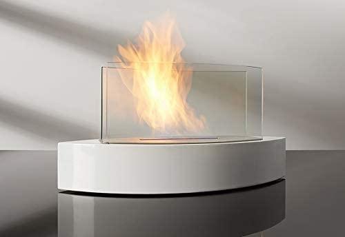 Chimenea de bioetanol FD135, chimenea de sobremesa de acero inoxidable, Bio quemador, diseño de moda