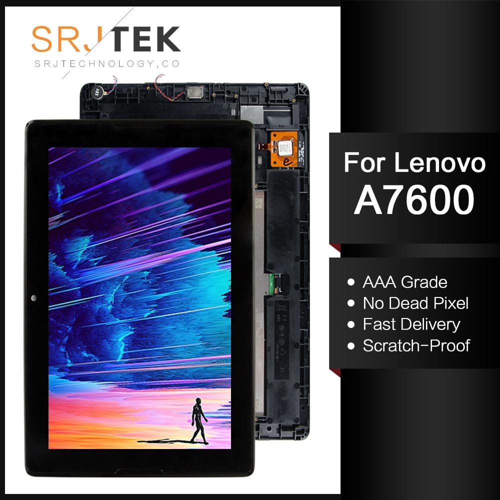 Para Lenovo Tab A10-70 A7600 A7600-H, repuesto de pantalla LCD + Marco de pantalla táctil de 10,1 pulgadas, A7600-F