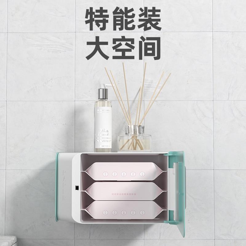 Multifunctional Toilet Paper Holders Waterproof Night Light Toilet Roll Holder Tissue Boxes Wc Rolhouder Home Storage DK50TP enlarge