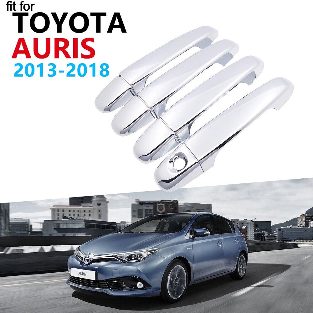 De Lujo cubierta cromada de manija de puerta Set de molduras para Toyota Auris E180 Hatchback (es) Scion iM 2013 ~ 2018 pegatinas 2017