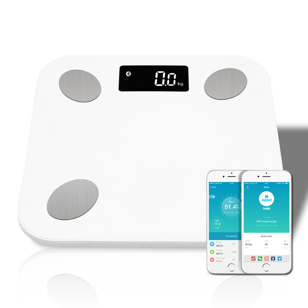 Báscula de grasa corporal VIP 51%, báscula de peso Digital inalámbrica inteligente para baño, Analizador de composición corporal con aplicación Bluetooth para Smartphone