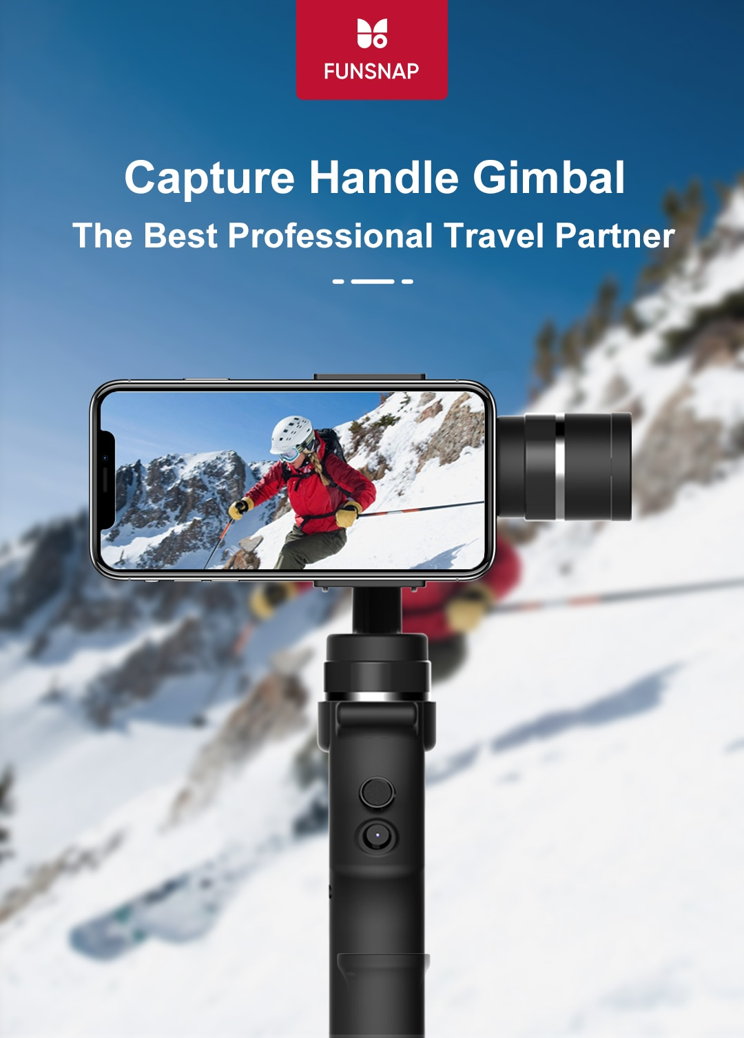 Funsnap Capture Three-Axis Gimbal Stabilizer For Smartphone Samsung Iphone 3 Axis Gopro 4k Action Camera Gimbal Kits IOS Android