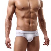 mens sexy mesh modal triangle underwear breathable solid briefs underpants%c2%a0calzoncillos hombre comfortable to wear for daily