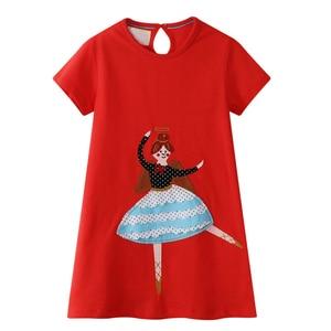 Girls Christmas Dress Classic Red Leisure Vacation Round Neck Cartoon Anime Elegant Casual Christmas Cartoon Character Printing