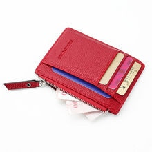 Local stock Womens Men Leather Small Mini Wallet Card Holder Zip Coin Purse Handbag Fashion