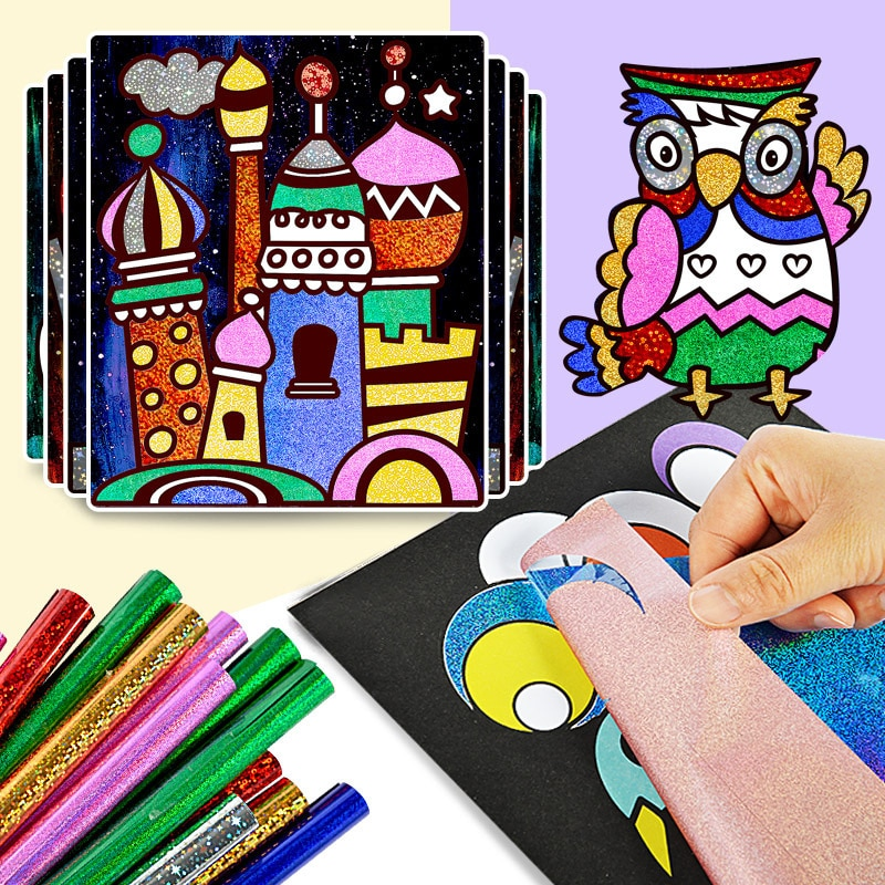 DIY мультфильм Волшебная переводная картина ремесла для детей Искусство и ремесла игрушки для детей творческое обучение Рисование игрушки