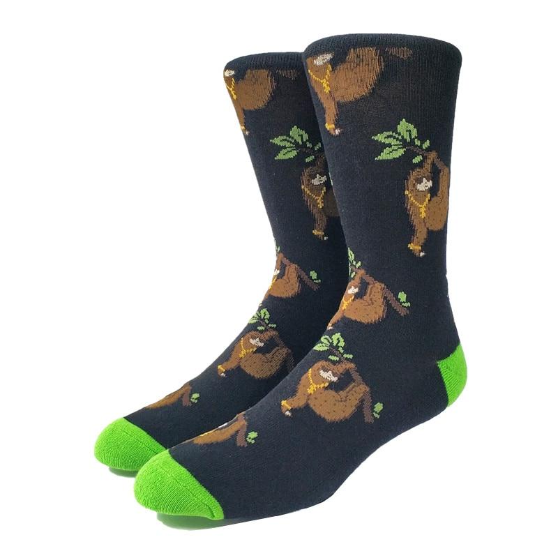 Men's Funny Sloth Socks (Thick)