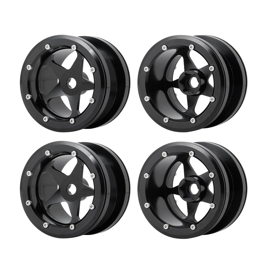 2.2 Inch Aluminum Alloy Beadlock Wheels Rims for 1:10 RC Crawler Axial Wraith 90018 TRX4 RC Crawler Car Parts enlarge