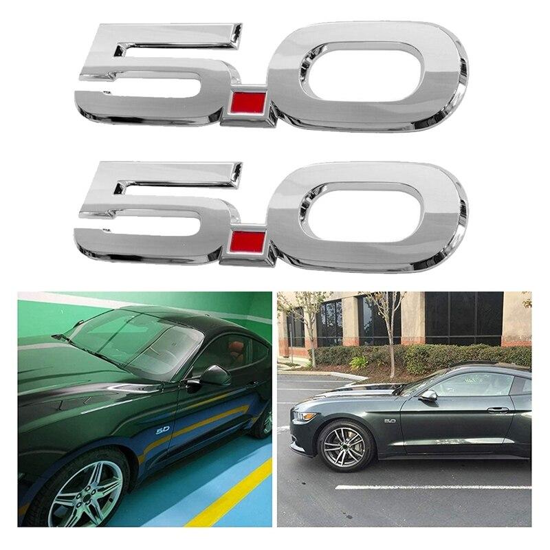 Für 2015-2020 Ford Mustang GT 5,0 F150 F250 F350 Chrom Überzog Side Körper Fender Embleme-Paar Aufkleber aufkleber Typenschild