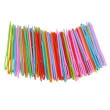 Aiguilles de bricolage en plastique   100 pièces, bricolage, tapisserie, couture, outils pour fils de laine pour enfants