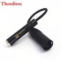 Thouliess черный нейлоновым чехлом, 8 ядер с серебряным покрытием 4-контактный разъём XLR сбалансированный до 6,35 мм 1/4 Женский аудио кабель-адаптер
