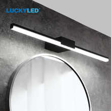 LUCKYLED Modern Led Bathroom Light 8W 12W AC85-265V Wall Lamp Wall Mount Light Fixtures Indoor Sconce Lamp Wall Lights for Home