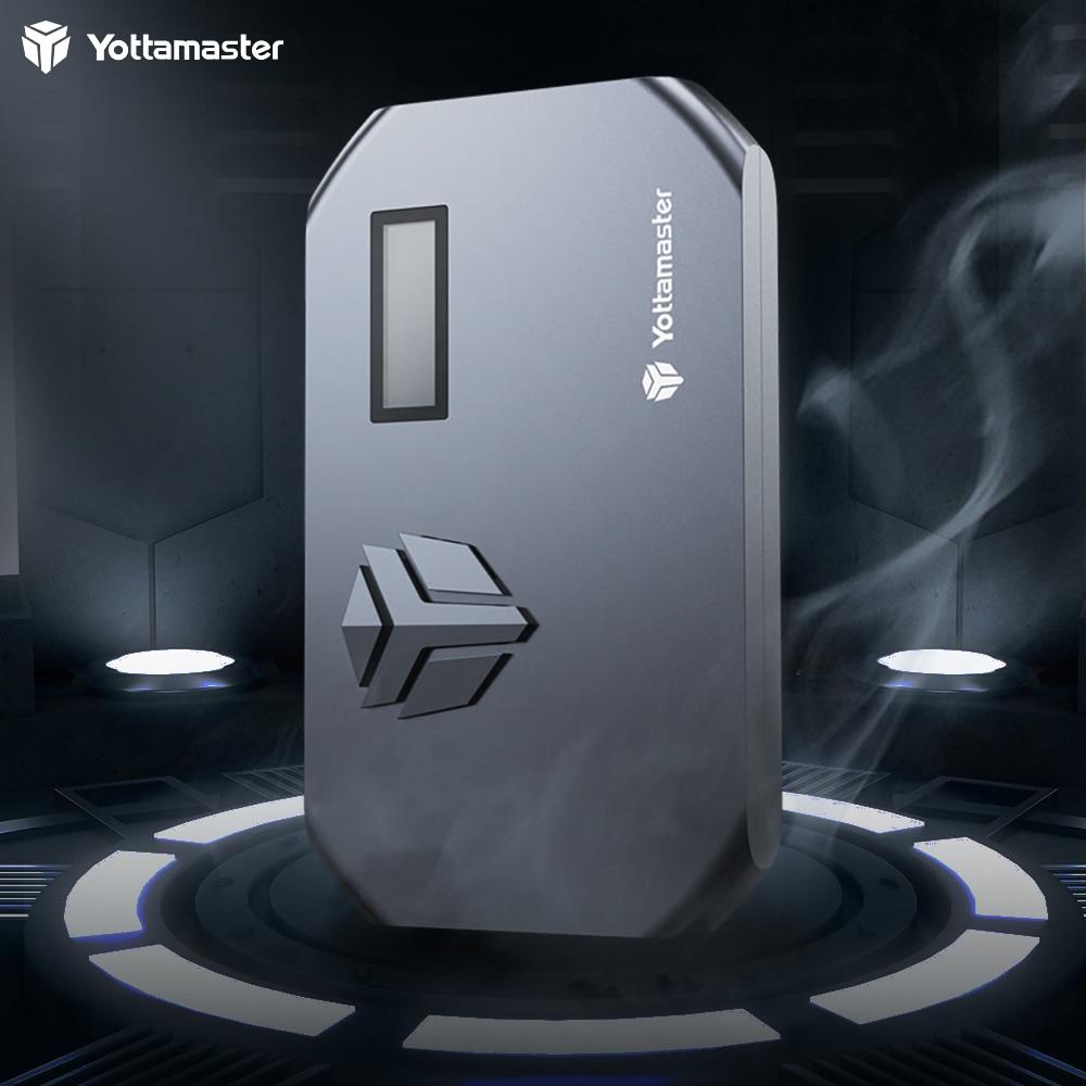 Yottamaster M.2 NVMe SSD Enclosure-with Cooling Fan&LED Tempreture, USB3.1 Type-C External M.2 NVMe Adapter- [MS3]