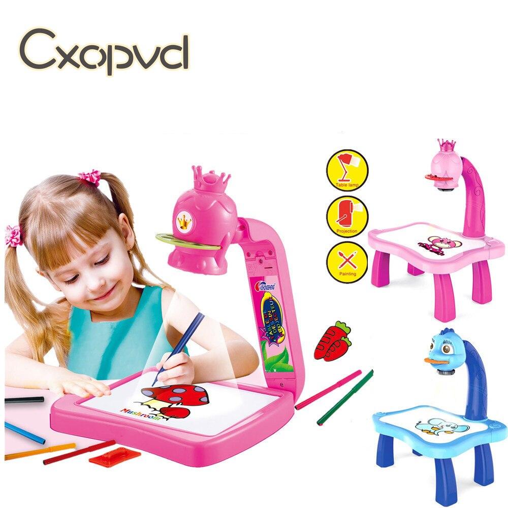 Детская Магнитная пластиковая доска для рисования, проектор, обучающий инструмент для рисования, игрушка для рисования, детская многофункц... доска для рисования детская quercetti для обучения математике и рисования 5323