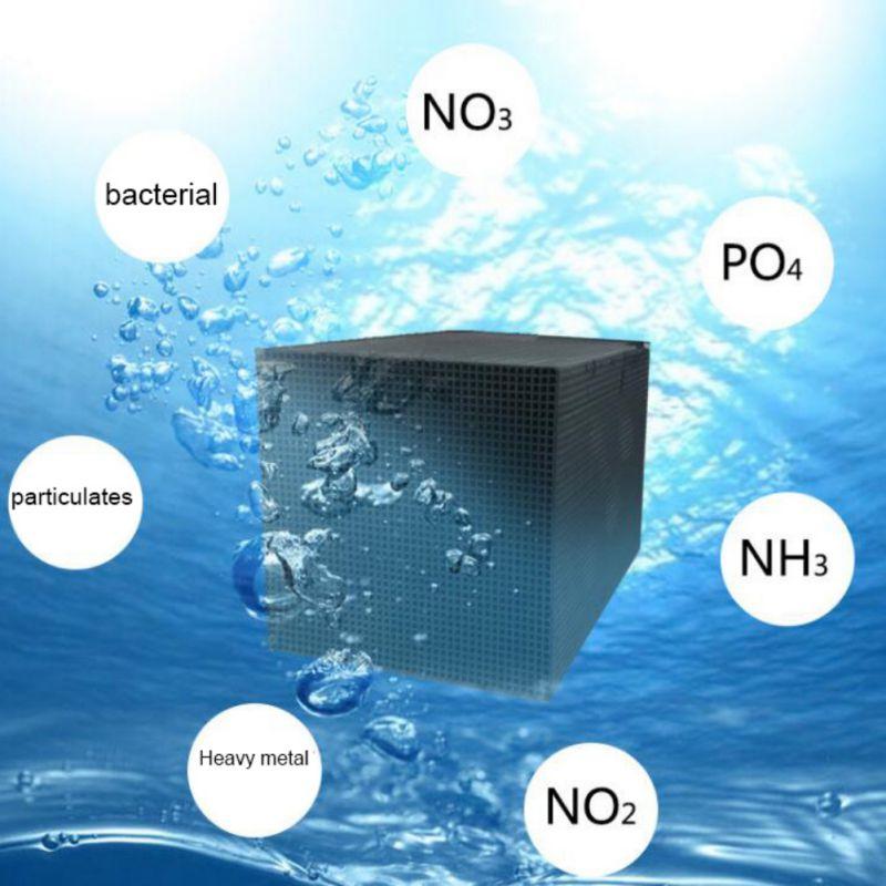 Purificador de agua de acuario ecológico Cubo de carbón activado Nano Filtro de purificación de Tanque De Agua de peces filtros y accesorios