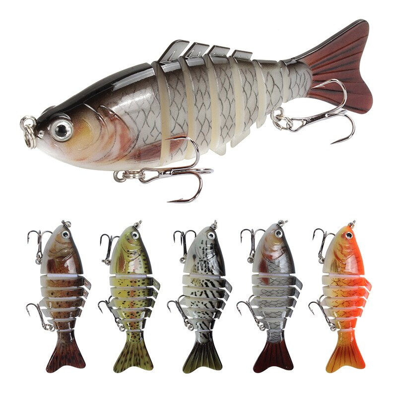 Fishing Lures Luya Seven-section Fish 15g/10cm Plastic 7-section Fishing Lure Sea Fishing Lure Simulation Bait Hard Bait betaine fish attractant food grade anhydrous high purity fishing bait flavoring agent cas 107 43 7