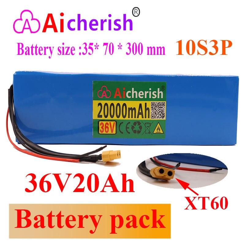 بطارية 10S3P 20ah 42V 18650 ، 36V ، ليثيوم أيون ، للدراجة الكهربائية ، السيارة ، سكوتر مع BMS 500W 18650