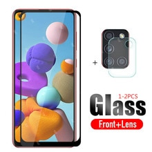2 in 1 protective glass For Samsung A21s 2020 camera lens protector For Samsung Galaxy A 21s A21s 21