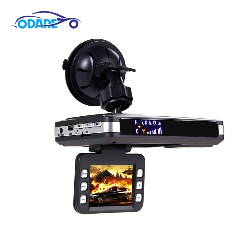 Odare Radar Detector Car DVR 2 in 1 recorder 140 Degree Angle Russian Video Recorder Night Vision Dash Cam car dvrs Registar