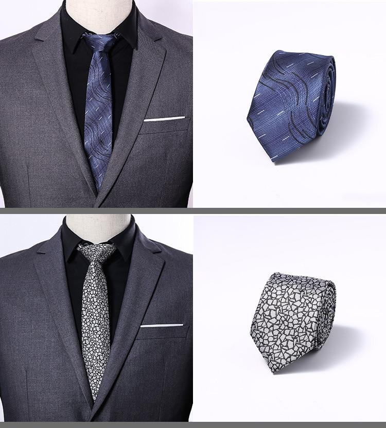 Luxury Formal Size 6cm 100% Silk Necktie Groom Wedding Ties Party  Jacquard Woven Gravata Slim Necktie  Men Classic Tie For Gift недорого
