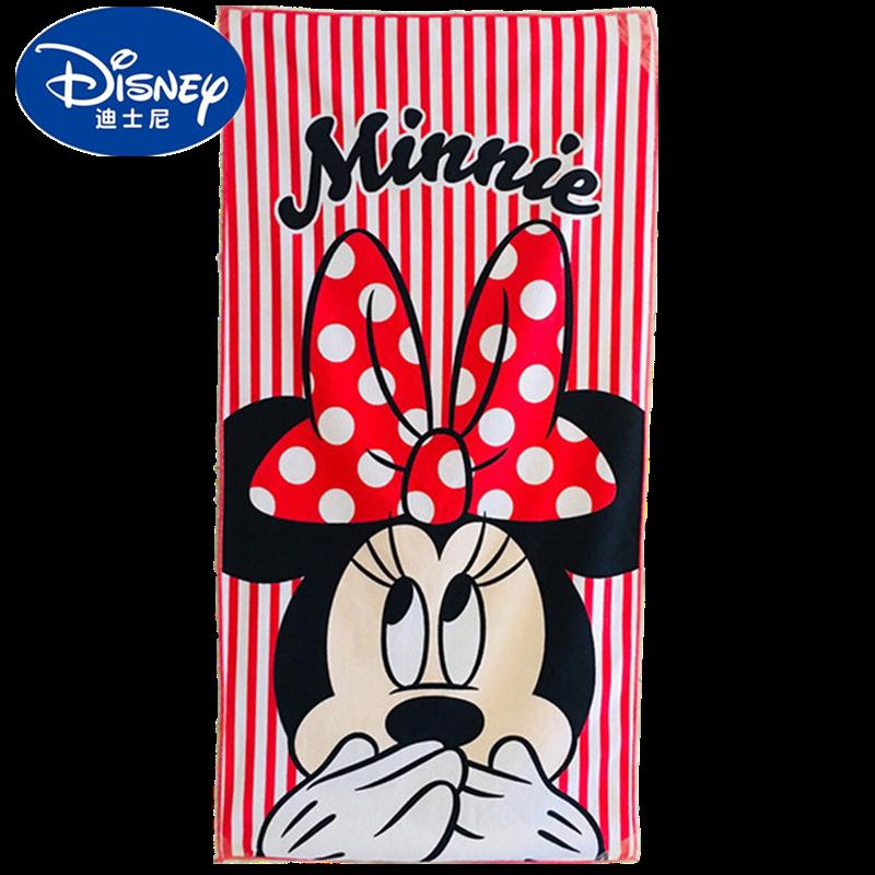 Toalla de baño Minnie roja de Disney, toalla de playa de algodón de dibujos animados, manta de bebé, niños, niñas, toalla de baño, regalo de Navidad 60x110cm