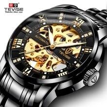 Top Marke Luxus TEVISE Herren Selbst Wind Armbanduhr Mann Mechanische Uhren Automatische Uhr Männlichen Uhr FNGEEN Relogio Masculino