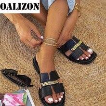 Designer classico nuovo 2021 infradito piatto da donna sandali a doppia catena pantofole scarpe donna Lady appartamenti pantofole sandali scarpe donna