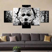 5 Panels Halloween Malerei auf leinwand horror film poster multi-panel leinwand wand kunst Bilder