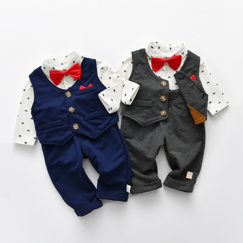 Yg Brand Children's Wear, 2021 Spring New Bow Tie, Baby Suit, Baby Pants, Boys' Top, One Year Old Su
