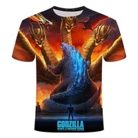 summer mens and womens clothing loose and comfortable short sleeved 3d printed t shirt super handsome movie monster pattern