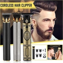 Top Sale Hair Trimmer Barber Haircut Rechargeable Hair Clipper Cordless Hair Cutting Machine Beard Trimmer 0mm Razor Men Shavers
