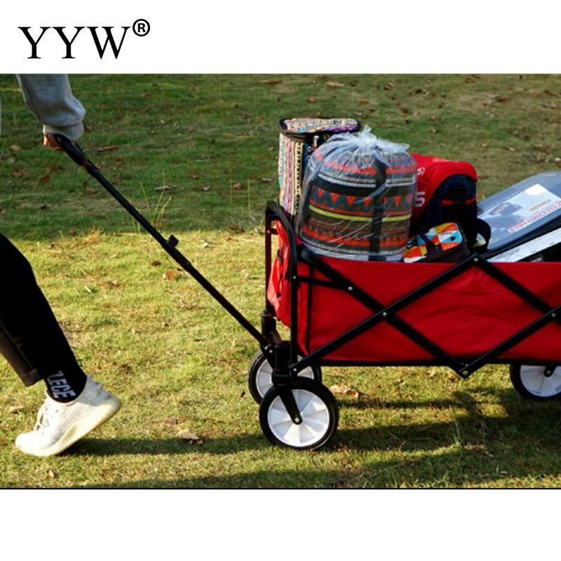 Wagon Cart Trolley Garden Outdoor Cart 4 Wheels Heavy Duty Folding Cart Hand Truck Trolley Cart Wagon Utility Carts Gardening  - buy with discount
