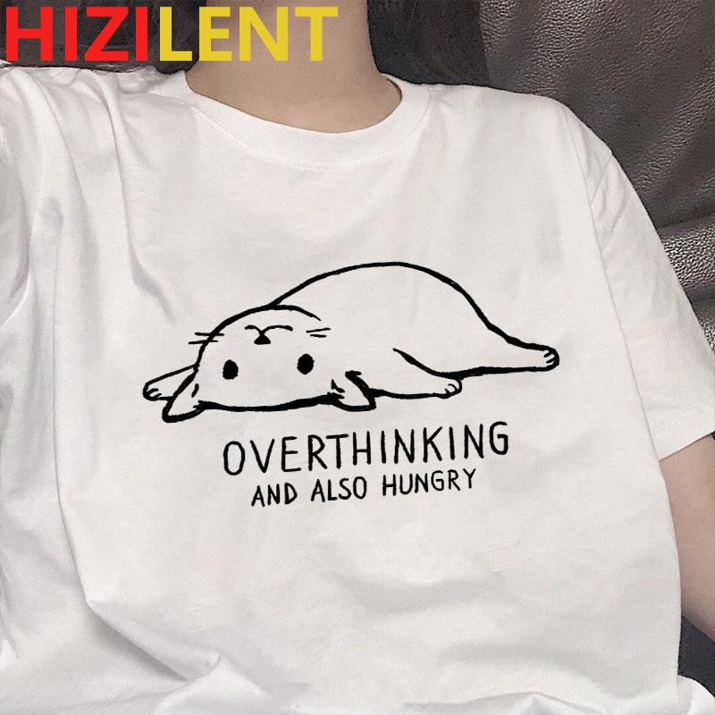 Gráfico Camisetas Bell gato tops kawaii adolescente impresión Camisetas mujeres divertido e...