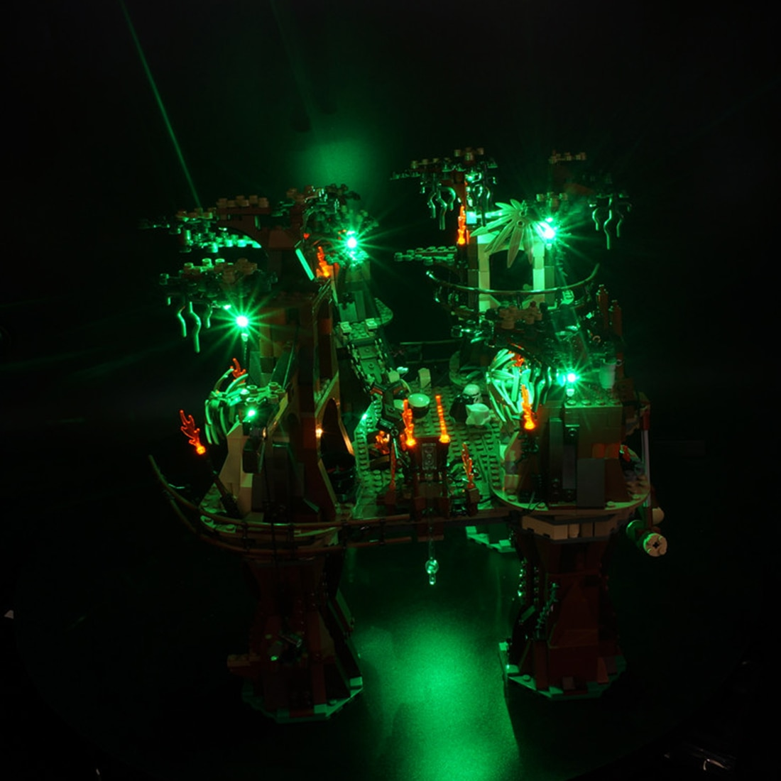 Bloques de construcción, Kit de iluminación LED para Ewok Village 10236 (solo LED incluido, sin Kit) para niños, juguetes educativos, regalo de cumpleaños