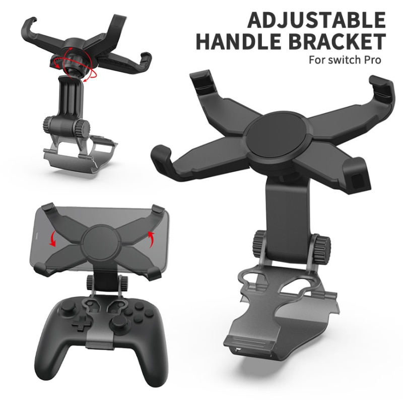 2021 Wireless Handle Holder Adjustable Handle Mobile Phone Clip For Switch Pro Mobile Phone Holder For Switch Pro Handle