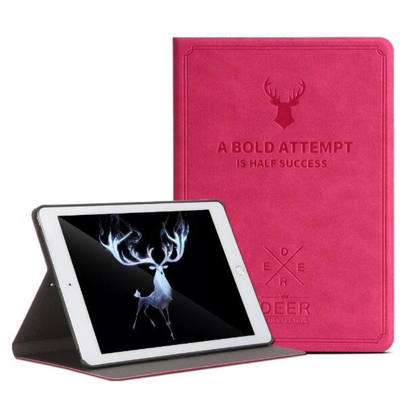 Para iPad air 3 10,5 2019 de lujo de moda Deer patrón textura de tela Flip soporte Protector de la tableta Funda Shell Coque caso