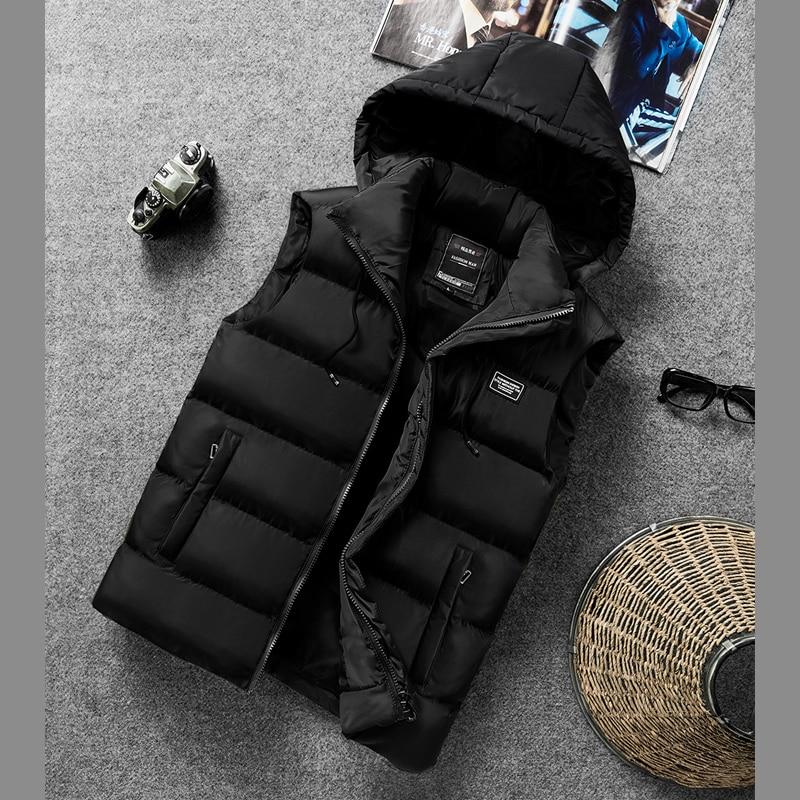 Chaqueta para hombre, chaleco de invierno para hombre, chalecos de camiseta para hombre, chaqueta gruesa de algodón sin mangas, abrigos, chaleco nuevo cálido para hombres, prendas de vestir, chaqueta 8XL