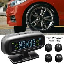 TPMS Solar Power Tire Pressure Monitoring System External Sensors Real-time Security Alarm Systems T