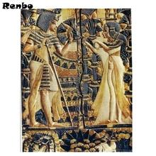 Needlework DIY Diamond Painting Ancient egypt couple Diamond Embroidery 5D Cross Stitch Full Square round Mosaic diamond mazayka