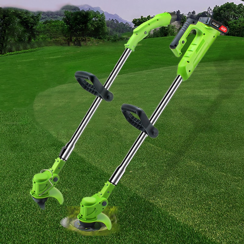 COOFIX Cordless Electric Lawn Mower Grass Trimmer Rechargeable Powerful Garden Edger Li-ion Battery Portable Grass Pruning Tools