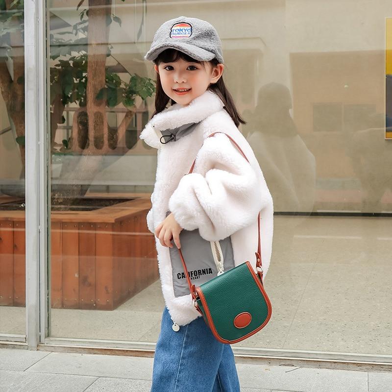 2021 Lamb Wool Warm Baby Girl Jacket Winter Windproof Kids Coats Outdoor Fashion Children Windbreaker Thick Teenager Clothes enlarge