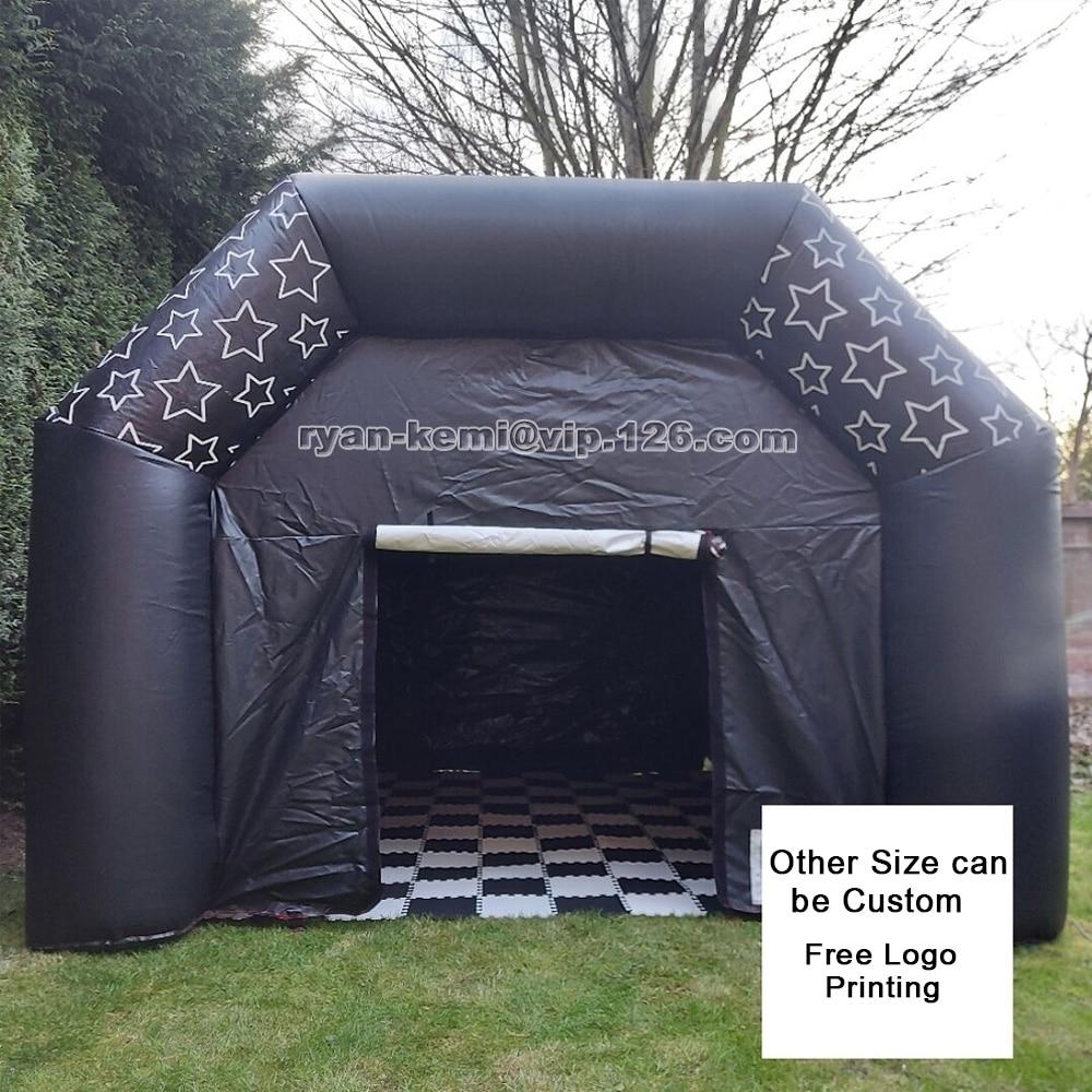شحن مجاني 26ft الأبيض خيمة عنكبوت قابلة للنفخ 8 متر كبير نفخ القباني خيمة القبة الهوائية مع 6 قطعة ستائر للباب القابل للإزالة