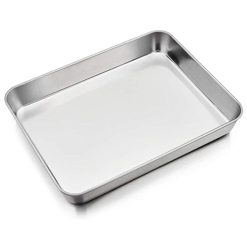 Baking Sheet Rectangular Cake Pan,Stainless Steel Lasagna Pan for Lasagna Brownie Fish Meats,Rectangle Baking Pan