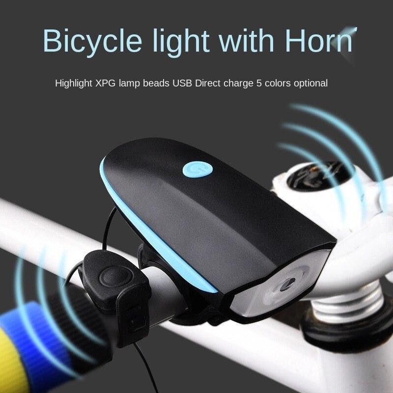 Accesorios para Bicicleta, luz de Timbre para Bicicleta, linterna de carga Usb,...