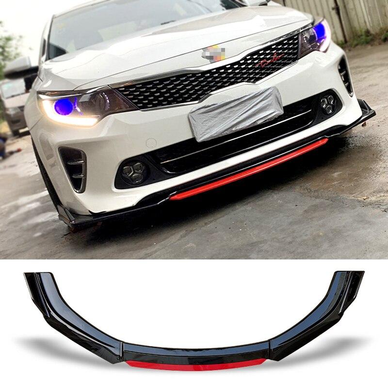 Superfície Protetor Placa Lip Kit Corpo de Carbono do Amortecedor dianteiro Spoiler Queixo K5 Pá Projeto da Cor do Contraste Para Kia Optima 2014 -2017